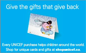 UNICEF Canada's Gifts That Give Back features holiday greeting cards for everyone