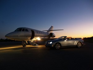 Flying in style with SwiftJet luxury private jet charter.