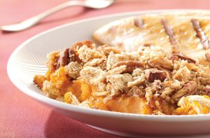 Twenty-minute Streusel Baked Winter Squash with wholesome Post Shredded Wheat.