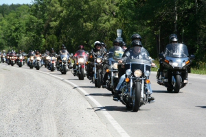 Alberta Ride for Sight motorcycle parade