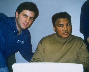 Cleankeys Inc. CEO, Randy Marsden, with Muhammad Ali