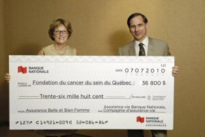 Banque nationale assurances remet un don de plus de 36 000 for Assurance banque nationale maison