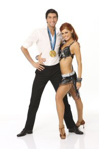 Evan Lysacek and Anna Trebunskaya of Dancing With the Stars