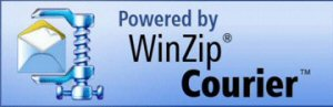 Powered by WinZip Courier logo