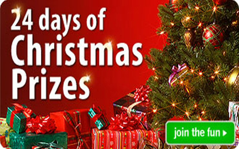 enjoy 24 days of christmas prizes with hostelbookers