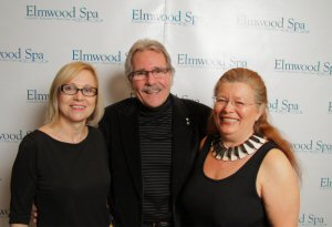 Marie Picton, Don Stuart and Sherry Brydson at Homage Exhibit at Elmwood Spa, Toronto