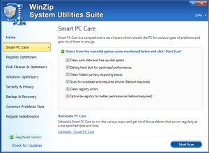 WinZip Smart PC Care scan