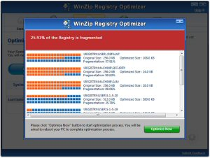 WinZip Registry Optimizer cleans and optimizes your registry