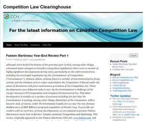 CCH Canadian Limited Competition Law Clearinghouse