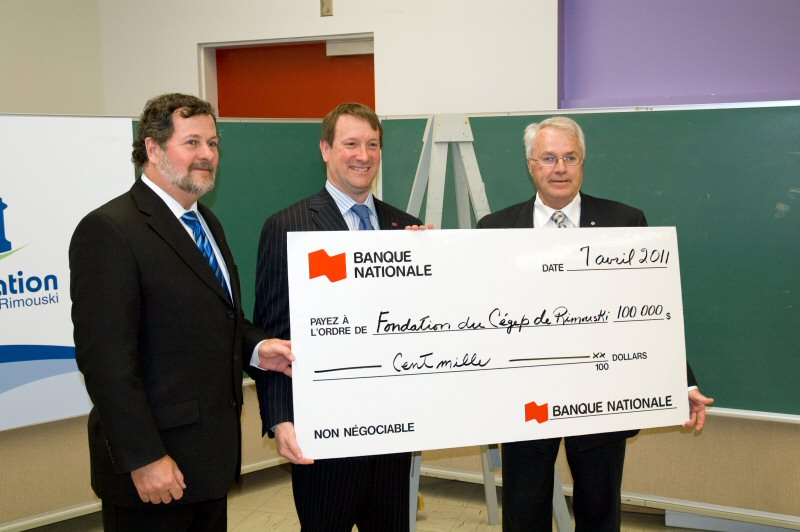 National bank financial group donates 100 000 to the for National rimouski