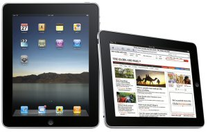 Apps are available for the iPad, iPod Touch and iPhone that have advanced content blocking and security filters. (http://bit.ly/pXkEoa / http://bit.ly/mZrO0p)