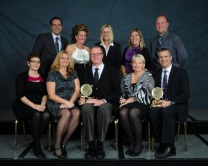 Cogeco's team after receiving SQM Group's Highest Customer Satisfaction award in the Telecommunications/TV Industry.