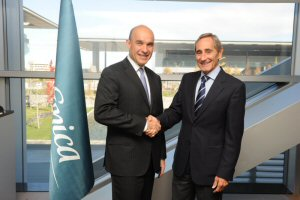 Jim Balsillie, Co-CEO at RIM and Julio Linares, COO from Telefonica, S.A.
