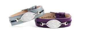 MedicAlert Roots Ladies Leather Cuff (shop at www.medicalert.ca)