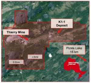 Location of K1-1 Deposit