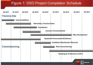 Figure 1: DSO Project Completion Schedule