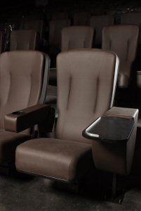 Cineplex Odeon Windermere and VIP Cinemas is the first theatre in Alberta with VIP Cinemas. Guests going to a movie in a VIP Cinema auditorium enjoy reserved seating in large leather seats with expanded legroom and movable tray tables. (photo credit: Dean Ward, Highview Photo - Red Deer)