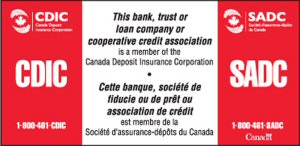 CDIC's members are financial institutions that take deposits and display this sign