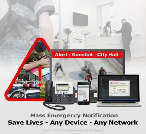 Amika Mobile specializes in critical and emergency mass notification solutions. AMS is ideal for communities, airports, sports arenas, shopping centers and campuses whose visitors are not pre-registered in a contacts database. Database pre-registration is described as the Achilles' heel of emergency mass notification. The AMS alerts over 16 layers including WiFi, SMS, Email, VoIP, PA systems, Message Boards, Twitter, RSS Feeds, Facebook, etc. The AMS also triggers alerts based on disparate sensor events from fire panels, cameras, access control, etc. AMS also monitors local weather through CAP-CP, NAADS, NOAA, etc. See: www.amikamobile.com