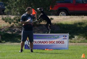 Rob McLeod getting ready to throw to Davy Whippet in the first heat of the 2012 Denver Quadruped. Rob and Davy would go on to break their World Record, win the Quad and win the National Quad series