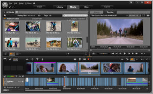 Pinnacle Studio(TM) 16 Storyboard and Timeline Editing Screen Shot