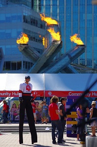 The Olympic Cauldron is lit up once again at United Way of the Lower Mainland's 2012 fundraising campaign gets underway.