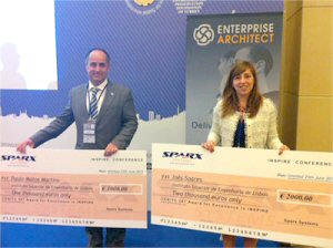 INSPIRE Award Winners Ines Soares and Paulo Martins