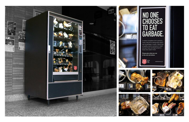 Salvation Army Synthetic Food Waste Vending Machine