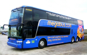 Coach Canada invests $11 Million in 15 new Megabus Double-Decker coaches providing service between Montreal and Toronto and Toronto and Buffalo. The Canadian Press Images PHOTO/Coach Canada