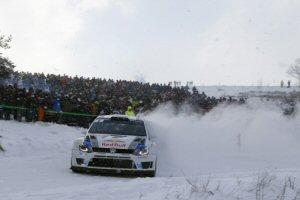 Sébastien Ogier et la Volkswagen Polo R WRC