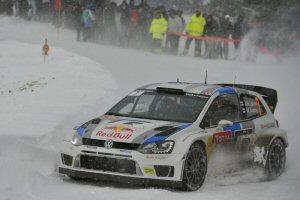 Jari-Matti Latvala et la Volkswagen Polo R WRC