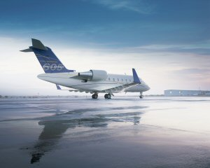 The Challenger 605 jet will be on display at the Aero India show in Bangalore