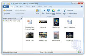 WinZip 17 offers integration with Box, SkyDrive, Google Drive, Dropbox, Facebook, LinkedIn and Twitter.