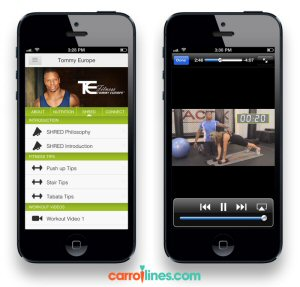 CarrotLines Powered by Tommy Europe contains exclusive nutrition and fitness video content