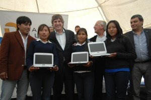 Local students receiving their netbooks