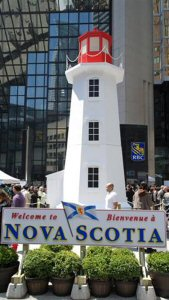 A piece of the East Coast was brought to Toronto's core with this 28-foot replica of Peggy's Cove Lighthouse.
