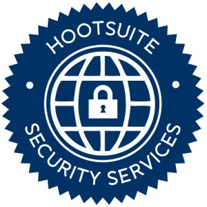 When using HootSuite Security Services, users will have the option to display the above badge confirming their participation in the prevention program.