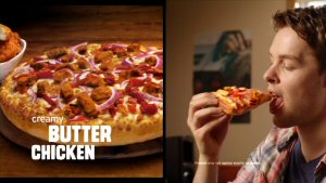 Now you can have your butter chicken and Pizza Hut too!  Pizza Hut combines two Canadian favourites with new Creamy Butter Chicken Pizza.  Photo: courtesy PizzaHut.ca