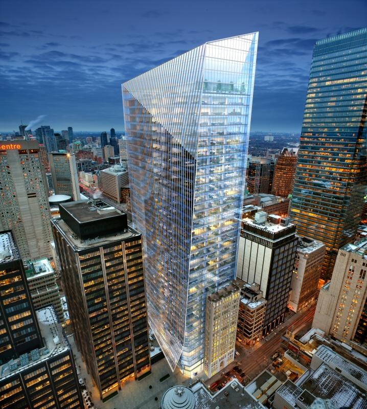 Construction the leadenhall building - Oxford Announces 40 Storey Downtown Toronto Office Tower