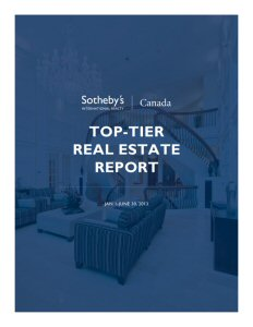 Sotheby's International Realty Top Tier Report July 2013