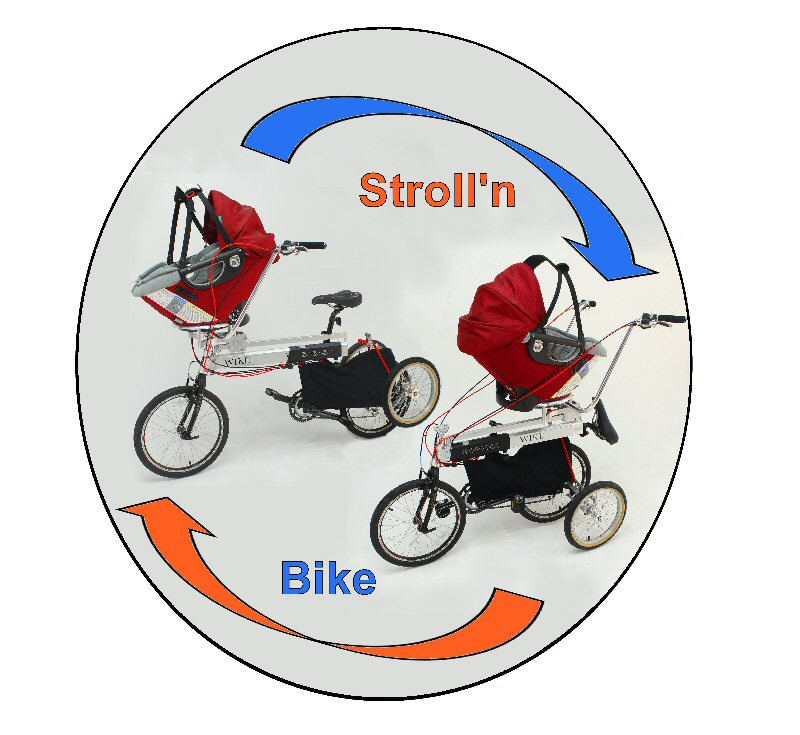 Stroll'n Bike: The World's First Bike That Converts Into a Stroller