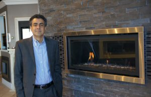 Brian Kar, Owner of Cozy Comfort Plus, one of largest fireplace retailers in Ontario