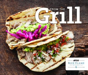 Cover photo of ATCO Blue Flame Kitchen's new From The Grill cookbook