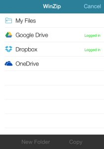 With support for Google Drive, OneDrive and Dropbox, WinZip for iOS offers safe and simple file sharing on iPhone and iPad