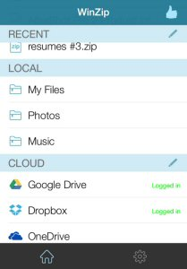 With a redesigned UI, WinZip for iOS makes it easier than ever to navigate, zip, protect and share files