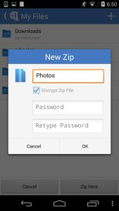 To keep confidential info secure when saving and sending files, users can now password protect with AES encryption
