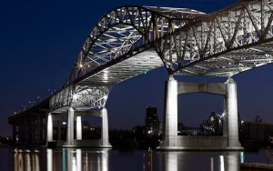 Lumenpulse's breakthrough Lumentalk technology has helped convert the iconic John A. Blatnik Bridge to LED lighting and digital control.