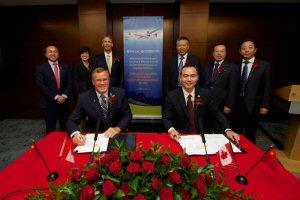 (in the front, left to right): John Saabas, Wang Chengkuan (left to right): Liping Xie,  Maria Della Posta, Paul Adams, Geng Ruguang, Pang Zhen, Zhang Guangjian
