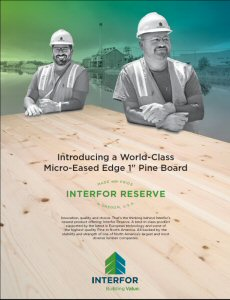 Interfor Reserve Pine Advertisement.
