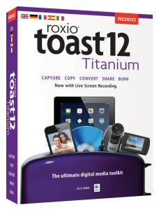 Roxio Toast 12 is the essential hub for sharing digital media to virtually any platform or device.